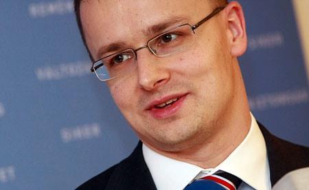 Szijjártó Péter, a Fidesz szóvivője