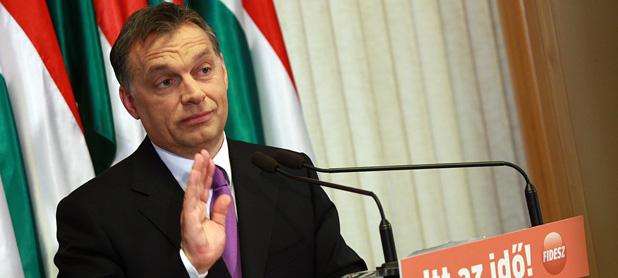 Orbán Viktor, a Fidesz elnöke és miniszterelnök-jelöltje