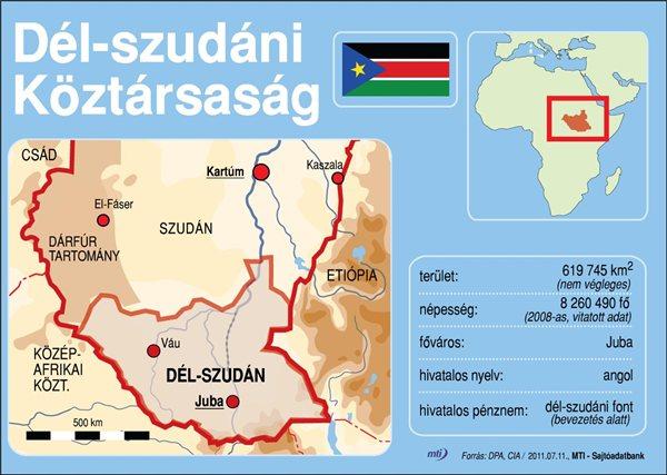 Hivatalosan is kikiáltották Dél-Szudán függetlenségét július 9-én. Kép: MTI