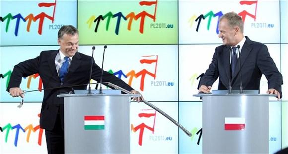 Orbán Viktor és Donald Tusk. Fotó: Burger Barna