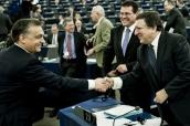 José Manuel Barroso, az Európai Bizottság elnöke elismerően beszélt a magyar eredményekről. Fotó: Burger Barna