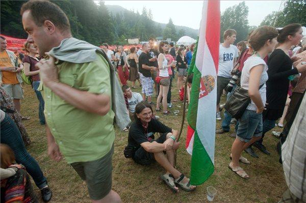 Németh Zsolt államtitkár kitért a tábor mottójára, Összenő, ami összetartozik. Fotó:MTI