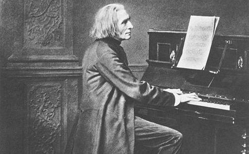 Egy 1869 körüli kép Liszt Ferencről