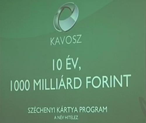 A 162 ezret is meghaladja a Széchenyi Kártyához köthető sikeres hitelügyletek száma.