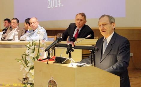 Pintér Sándor belügyminiszter mondott beszédet Országos Polgárőr Szövetség Küldöttgyűlésén