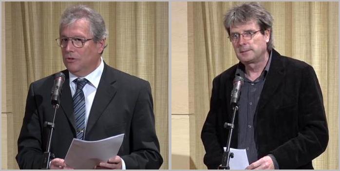 Sajó Attila, a Magyar Népművelők Egyesületének elnöke, valamint Joós Tamás, a Kulturális Központok Országos Szövetségének alelnöke