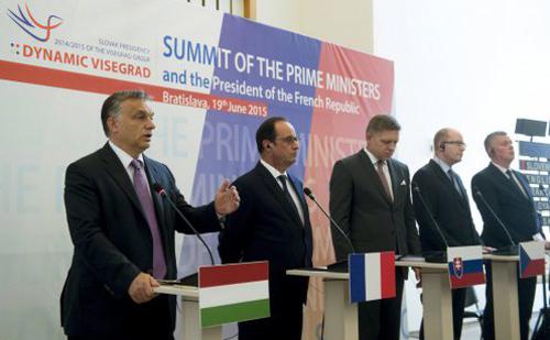 Orbán Viktor is részt vett a visegrádi négyek miniszterelnöki szintű tanácskozásán