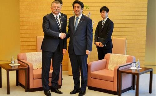 Kövér László Japánban tett látogatást