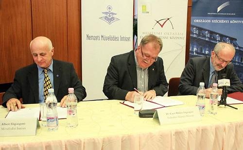 Konzorciumi megállapodást kötött a Szabadtéri Néprajzi Múzeum, az Országos Széchenyi Könyvtár és az NMI