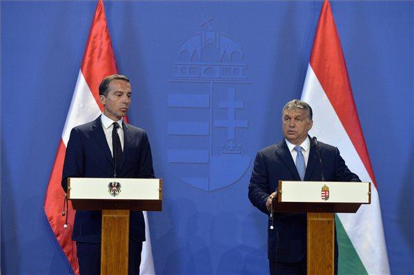 Christian Kern és Orbán Viktor