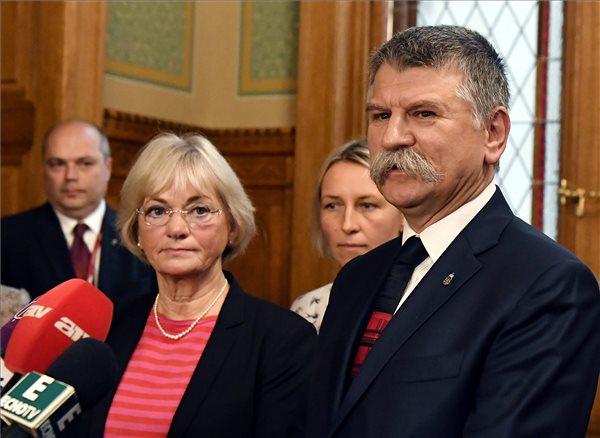 Kövér László fogadta a dán parlament elnökét