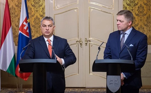Orbán Viktor és Robert Fico