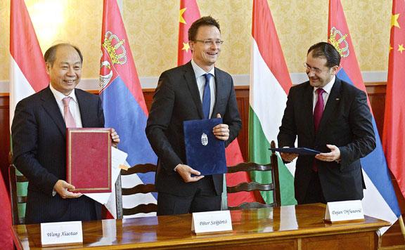 Budapest-Belgrád vasútvonal megépítésének megállapodása
