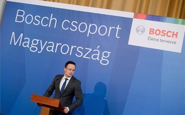 250 új munkahelyet hoz létre a Bosch Hatvanban