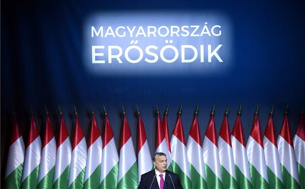 Orbán Viktor évértékelő beszédet tartott
