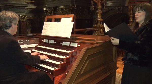 Virágh András orgonaművész és Gion Zsuzsanna előadása a Szent István Bazilikában