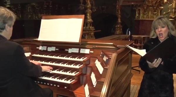 Kovalik Erikát Virágh András orgonaművész kíséri a bazilikában