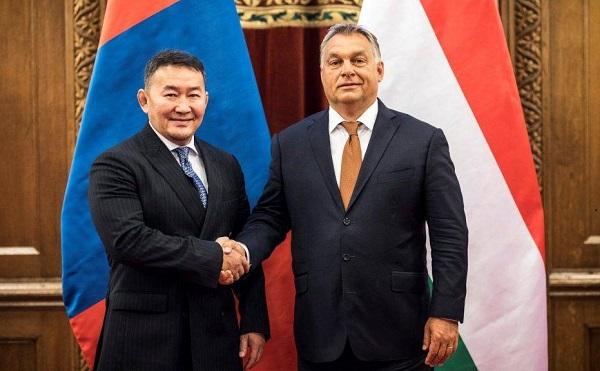 A mongol elnökkel tárgyalt Orbán Viktor