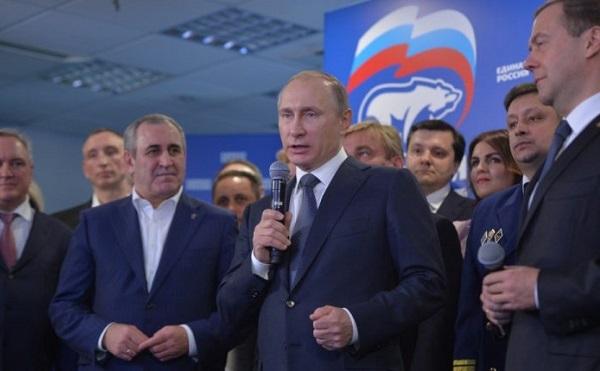 Vlagymir Putyin államfő pártja, az Egységes Oroszország párt egyöntetű győzelmet aratott a kormányzóválasztáson