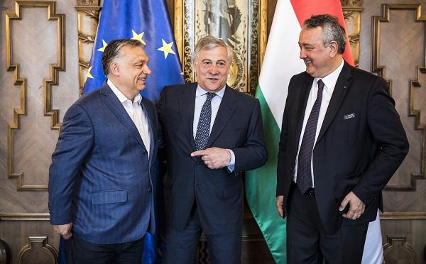 Az Európai Parlament elnökével tárgyalt Orbán Viktor