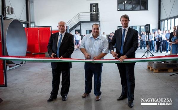 Innovációs kisvállalkozás új üzemét avatták Nagykanizsán