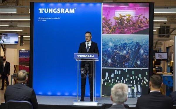 A Tungsram Kft. versenyképesség-növelő támogatási szerződést vehetett át