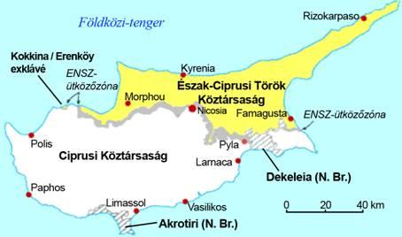 Ciprus, megosztottság, határkerítés