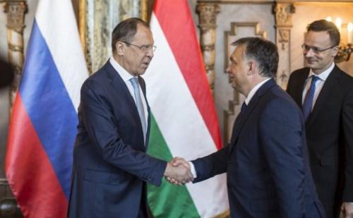 Szergej Lavrov orosz külügyminisztert fogadta Orbán Viktor
