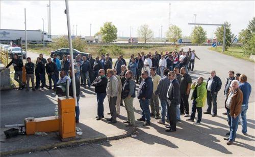 taxisofőrök, Nickelsdorf, határátkelő, Ausztria